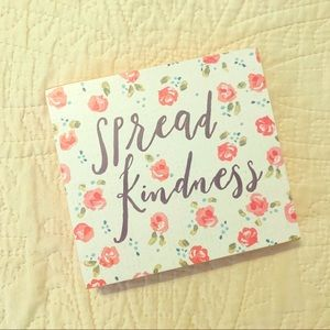 SPREAD KINDNESS Wood Block Decor